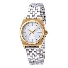 Часы женские Nixon Small Time Teller Gold/Silver