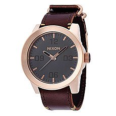 Часы Nixon Corporal Rose Gold/Gunmetal/Brown