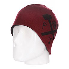 Шапка двусторонняя Independent Ftr Reversible Skull Black/Oxblood
