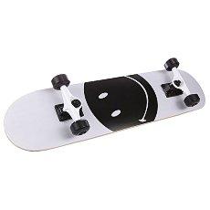 Скейтборд в сборе детский детский Fun4U Smiley Face White/Black 7.5 (19.1 См)