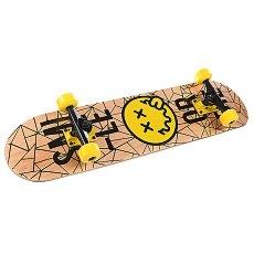 Скейтборд в сборе детский детский Fun4U Smiley Die Beige/Yellow 7.5 (19.1 См)