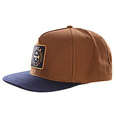 Бейсболка с прямым козырьком Circa Rtd Snap Back Navy/Caramel
