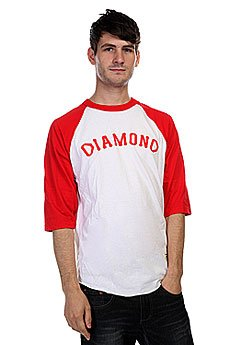 Лонгслив Diamond Dugout 98 Raglan White/Red