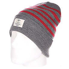 Шапка TrueSpin Hammer Beanie Grey/Red