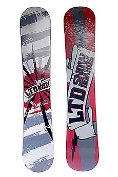 Сноуборд LTD Raider Anti Cam Sidewall 148 Red/Grey