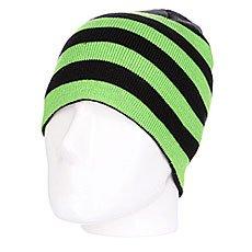 Шапка Urban Classics Stripe Beanie Black-limegreen