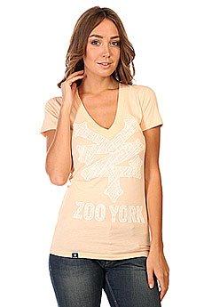 Футболка женская Zoo York V Neck Orange