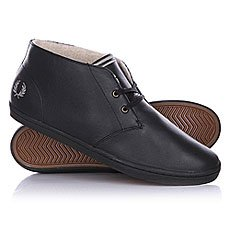 Fred Perry Byron Mid Leather Black