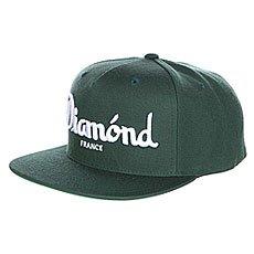 Бейсболка с прямым козырьком Diamond Champagne Snapback Green
