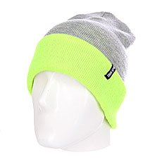 Шапка TrueSpin Neon 2 Tone Roll Up Heather Grey Lime