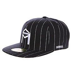 Бейсболка с прямым козырьком Sk8mafia Og Logo New Era Black/White
