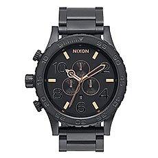 Часы Nixon Chrono All Black/Rose Gold
