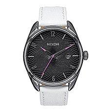 Часы женские Nixon Bullet Leather Gunmetal/White