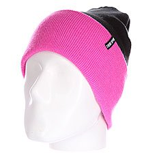 Шапка Truespin Neon 2 Tone Roll Up Black Neon Pink