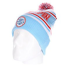 Шапка Truespin Baseball Pom White Blue Red