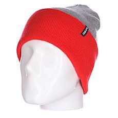 Шапка носок TrueSpin Neon 2 Tone Roll Up Heather Grey/Infrared