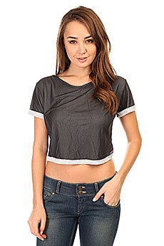 Топ женский CajuBrasil Croptop Field Dry Black/Grey