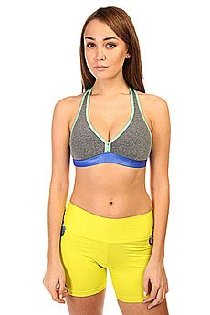 Топ женский CajuBrasil Supplex Top Grey/Green/Blue