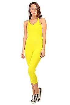 Комбинезон для фитнеса женский CajuBrasil New Zealand Overall Yellow
