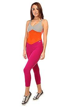 Комбинезон для фитнеса женский CajuBrasil New Zealand Overall Pink/Orange/Grey