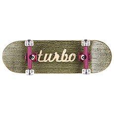 Фингерборд Turbo-FB П10 Гравировка Green/Purple/Clear