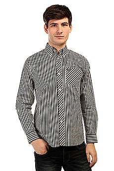 Рубашка в клетку Fred Perry Gingham Shirt Long Sleeve Black/White