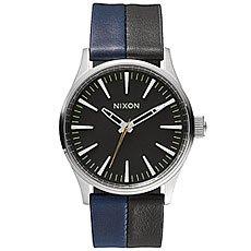Часы Nixon Sentry 38 Leather Black/Navy/Black