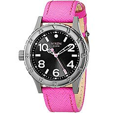 Часы женские Nixon 38-20 Leather Black/Hot Pink