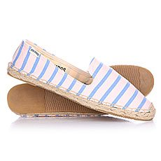 Эспадрильи женские Soludos Slipper Classic Stripe Blush Blue Lagoon