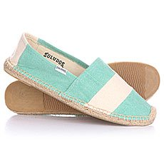 Эспадрильи женские Soludos Original Barca Sailor Stripe Mint