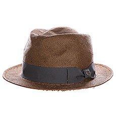 Шляпа Brixton Baxter Fedora Brown/Charcoal
