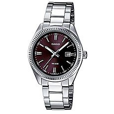 Часы Casio Collection Ltp-1302pd-1a1 Silver/Burgundy