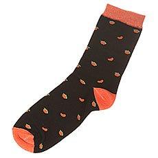 Носки средние женские Запорожец Апельсин Целый И Дольки Black/Orange