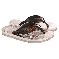 Вьетнамки детские Havaianas Max Cars White/Grey/Multi