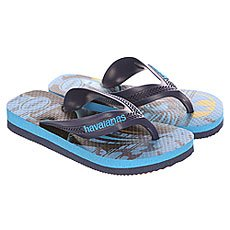 Вьетнамки детские Havaianas Max Herуis Blue/Light Blue/Multi