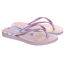 Вьетнамки детские Havaianas Slim Princess Purple/Multi
