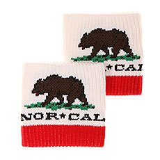 Напульсники Nor Cal Republic Unisex White/Red