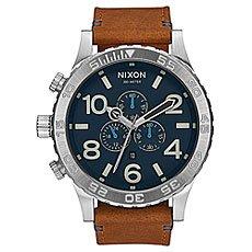Кварцевые часы Nixon 51-30 Chrono Leather Navy/Saddle