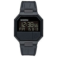 Электронные часы Nixon Re Run Leather Black Croc