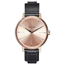 Кварцевые часы женские Nixon Kensington Leather Rose Gold/Bridle