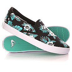 Слипоны Quiksilver Shorebreak Slip Shoe Black/White/Green
