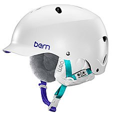 Шлем для сноуборда женский Bern Snow Hardhat Lenox Satin White/White Liner