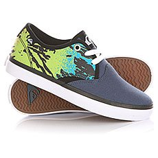 Кеды низкие детские Quiksilver Shore Break Delux Blue/Green/White