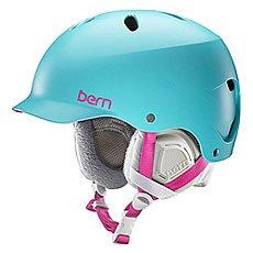 Шлем для сноуборда женский Bern Snow EPS Lenox Satin Aqua/Grey Liner