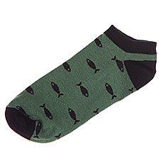 Носки низкие женские Запорожец Рыбки Зеленый