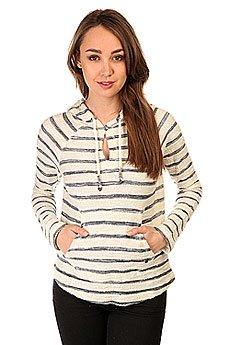 Толстовка кенгуру женская Roxy Adelaide Poncho Adelaide Stripe Combo Black/White