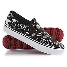 Слипоны DC Trase Slip-on S Black/Red Print