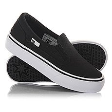 Слипоны детские DC Trase Slip-on TX Black/White