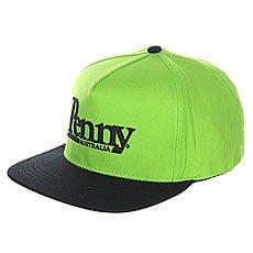 Бейсболка с прямым козырьком Penny Cap Green N Black Snapback