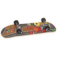 Скейтборд в сборе детский Fun4U Little Monster Multi 24 x 6 (15.2 см)